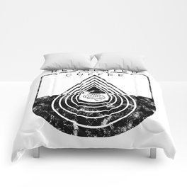 Caffeine on the Brain // Regulated by Coffee Espresso Drip Distressed Living Graphic Design Comforters