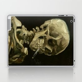 Vincent van Gogh - Skull of a Skeleton with Burning Cigarette Laptop & iPad Skin
