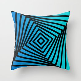 Squares twirling from the Center. Optical Illusion of Perspective bu Squares twirling Throw Pillow
