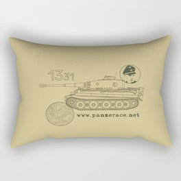 Michael Wittmann Panzer Ace 1331 Kursk Sand/Olive Green Rectangular Pillow