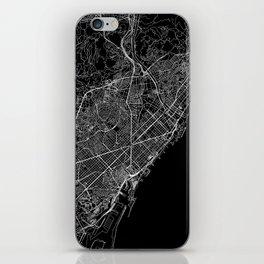 Barcelona Black Map iPhone Skin
