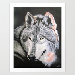 """Wolf"" - from the series ""What are you looking at? Art Print"