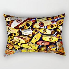 promise padlock Rectangular Pillow