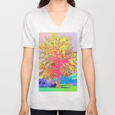 Color Tree Unisex V-Neck