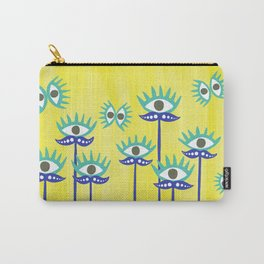 Evil Eye Nazar protective Garden Yellow Carry-All Pouch