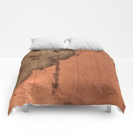 Tarnished Copper rustic decor Comforters