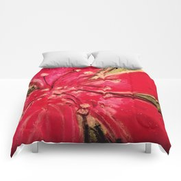 Red Hibiscus Detail Comforters