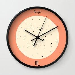 Scorpio - Pink Wall Clock