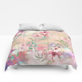 Botanical Fragrances in Blush Cloud Comforters