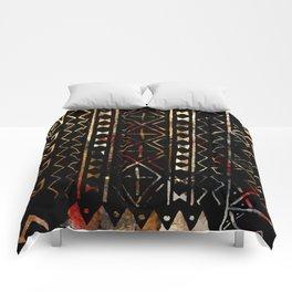 Golden Mud Cloth Comforters