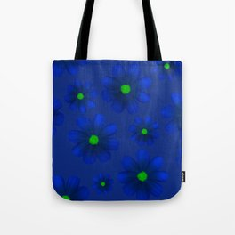 Blue Flowers Beautiful Pattern Tote Bag