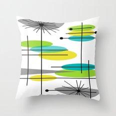 Mid-Century Modern Atomic Design Throw Pillow