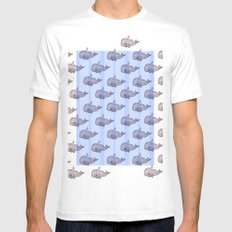 Pod of Whale Mens Fitted Tee White MEDIUM