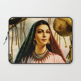 Jesus Helguera Painting of a Mexican Fisher Girl With Basket Laptop Sleeve