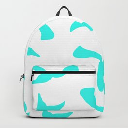 Trendy girly turquoise bright mermaid tails pattern Backpack