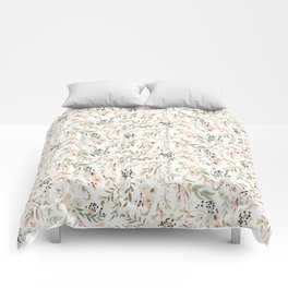 Dainty Intricate Pastel Floral Pattern Comforters