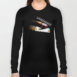 Cute Funny Penguin Rocket Unisex Shirt Long Sleeve T-shirt
