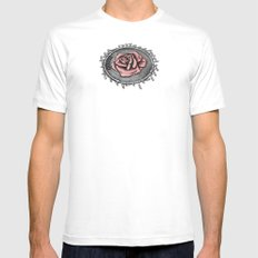 The rose beneith my feet White Mens Fitted Tee MEDIUM