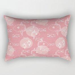Mola Mola Pink-Ocean sunfish Rectangular Pillow