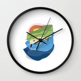 Sharkies Beach Surfing Wall Clock