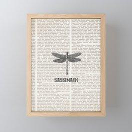 NEWSPAPER SASSENACH 2 Framed Mini Art Print