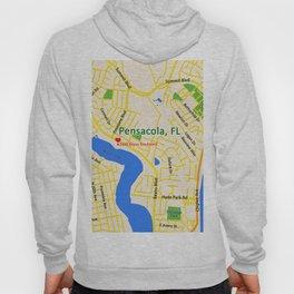 Map of Pensacola, FL Hoody