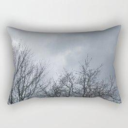 Winter Sky, Cloudy Winter Sky, Beautiful Clouds and Trees Rectangular Pillow