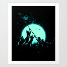 Freedom Cats Art Print