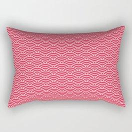 Japanese Sakura Koinobori Fish Scale Reversed Rectangular Pillow