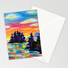 Landscape With Saucers Stationery Cards