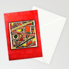 Tribal Geo Melee Stationery Cards
