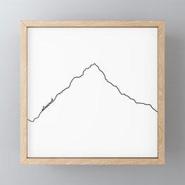 Mt Everest Art Print / White Background Black Line Minimalist Mountain Sketch Framed Mini Art Print