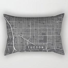 Tucson Map, Arizona USA - Charcoal Portrait Rectangular Pillow