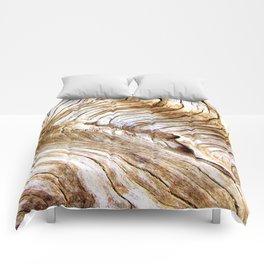 Organic design Tree Wood Grain Driftwood natures pattern Comforters