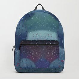 Winter Forest and Deer in the Snow Backpack
