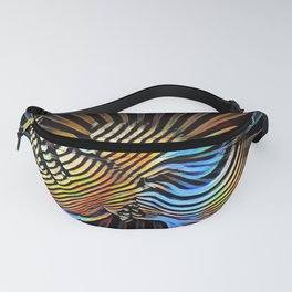 7683s-KMA Abstract Nude Woman Hand on Cheek Radiating Power Composition Style Fanny Pack