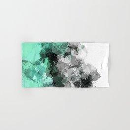 Mint Green Paint Splatter Abstract Hand & Bath Towel