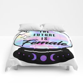 The Future is Female Crystal Ball Comforters