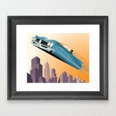 Dude, Where's My Flying Car? Framed Art Print