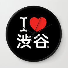 I ♥ Shibuya Wall Clock