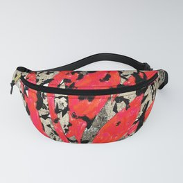 Flame Grunge Fanny Pack