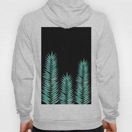 Tropical Leaves | Black Hoody