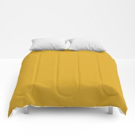 Goldenrod - solid color Comforters