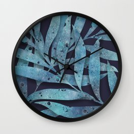 Watercolor Ferns Wall Clock