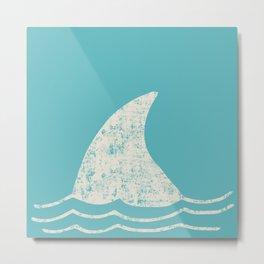 Beach Series Aqua - Shark Animal in the deep See Metal Print
