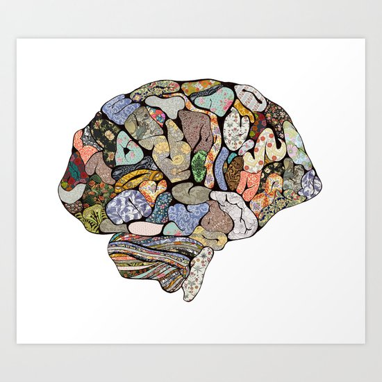 my brain looks different Art Print