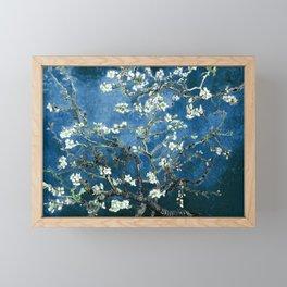 Van Gogh Almond Blossoms : Ocean Blue Framed Mini Art Print