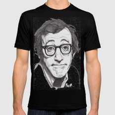 Woody Allen Black X-LARGE Mens Fitted Tee
