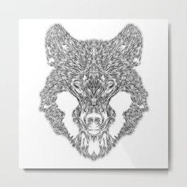 Animus-WLF01 - Wolf Head Design Metal Print
