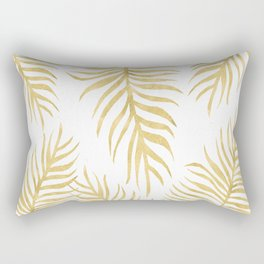 Fern Pattern Gold Rectangular Pillow